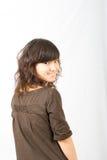 Sorriso asiatico luminoso della gioventù Immagine Stock