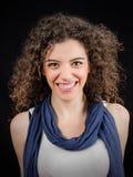 Sorriso atrativo da jovem mulher Imagem de Stock Royalty Free