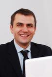 Sorriso bem sucedido do homem de negócios Fotos de Stock Royalty Free