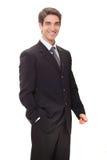 Sorriso bem sucedido do homem de negócios imagem de stock royalty free