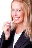 Sorriso bianco Fotografie Stock Libere da Diritti