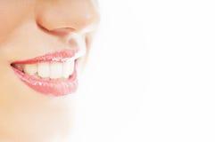 Sorriso bianco sano Fotografia Stock