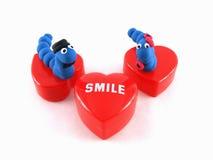 Sorriso blu delle coppie di Werm Immagini Stock Libere da Diritti