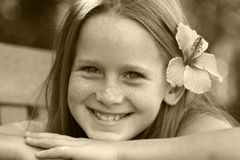 Sorriso bonito Fotografia de Stock