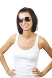 Sorriso bonito da jovem mulher foto de stock royalty free
