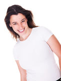 Sorriso bonito da mulher foto de stock