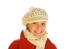 Sorriso bonito da mulher nova foto de stock