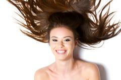 Sorriso bonito da mulher nova Fotografia de Stock