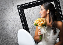 Sorriso bonito da noiva Fotografia de Stock