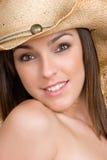 Sorriso bonito do Cowgirl imagens de stock
