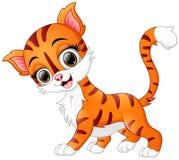 Sorriso bonito do gato dos desenhos animados Fotografia de Stock Royalty Free