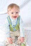 Sorriso bonito do rapaz pequeno Imagem de Stock