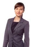 Sorriso bonito novo da mulher de negócios isolado Fotos de Stock