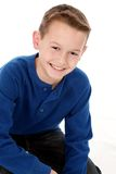 Sorriso caucasiano novo do menino Imagem de Stock