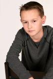 Sorriso caucasiano novo do menino Fotografia de Stock