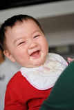Sorriso chinês do bebê Foto de Stock Royalty Free