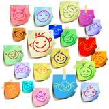 Sorriso colorato Fotografia Stock