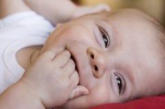 Sorriso com dedos Imagens de Stock