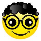 Sorriso con capelli ricci e vetri neri Illustrazione di vettore Immagine Stock Libera da Diritti
