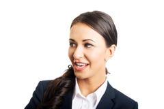 Sorriso confiável da mulher de negócio Imagens de Stock Royalty Free