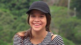 Sorriso consideravelmente adolescente da menina fotos de stock