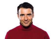 Sorriso considerável caucasiano do retrato do homem alegre Fotografia de Stock Royalty Free