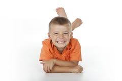 sorriso da criança Fotos de Stock