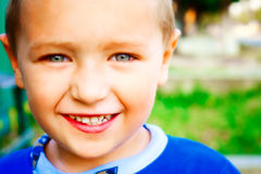 Sorriso da criança feliz alegre Imagens de Stock Royalty Free