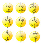 Sorriso da emoção Imagem de Stock Royalty Free