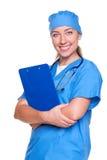 Sorriso da enfermeira dos jovens Imagem de Stock