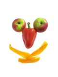 Sorriso da fruta isolado no branco foto de stock royalty free
