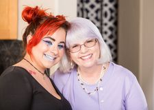 Sorriso da mãe e da filha Imagem de Stock