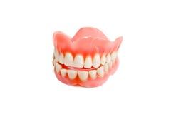 Sorriso da maxila dos dentes plásticos imagens de stock
