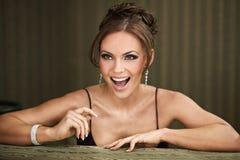 sorriso da mulher foto de stock royalty free