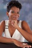 Sorriso da mulher Fotografia de Stock Royalty Free