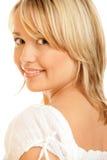 Sorriso da mulher da beleza Imagens de Stock Royalty Free