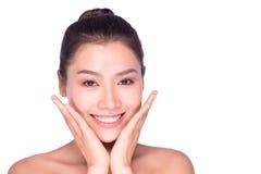 Sorriso da mulher da beleza dos termas Foto de Stock Royalty Free