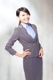 Sorriso da mulher de negócio Foto de Stock Royalty Free