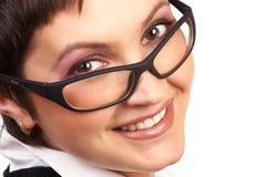 Sorriso da mulher de negócio. Imagem de Stock