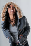 Sorriso da mulher nova fotografia de stock