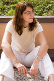 Sorriso da mulher nova imagens de stock royalty free