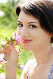 Sorriso da mulher nova Imagens de Stock