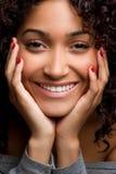 Sorriso da mulher preta fotos de stock royalty free