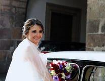 Sorriso da noiva do casamento Imagem de Stock Royalty Free