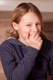 Sorriso da rapariga Fotografia de Stock