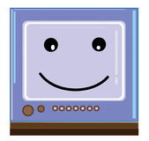 Sorriso da tevê Fotos de Stock Royalty Free