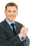 Sorriso dall'uomo d'affari Fotografia Stock Libera da Diritti