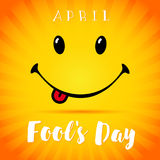 Sorriso de April Fools Day Fotografia de Stock Royalty Free