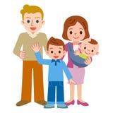Sorriso de uma família feliz ilustração stock