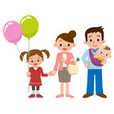 Sorriso de uma família feliz ilustração royalty free